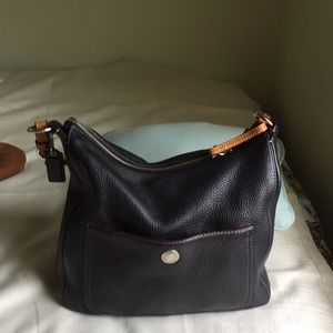 Coach Chelsea Pebbled Leather hobo shoulder bag
